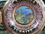 Bakır Elişçiliği Tabak ve Antalya Manzarası Hediyelik
